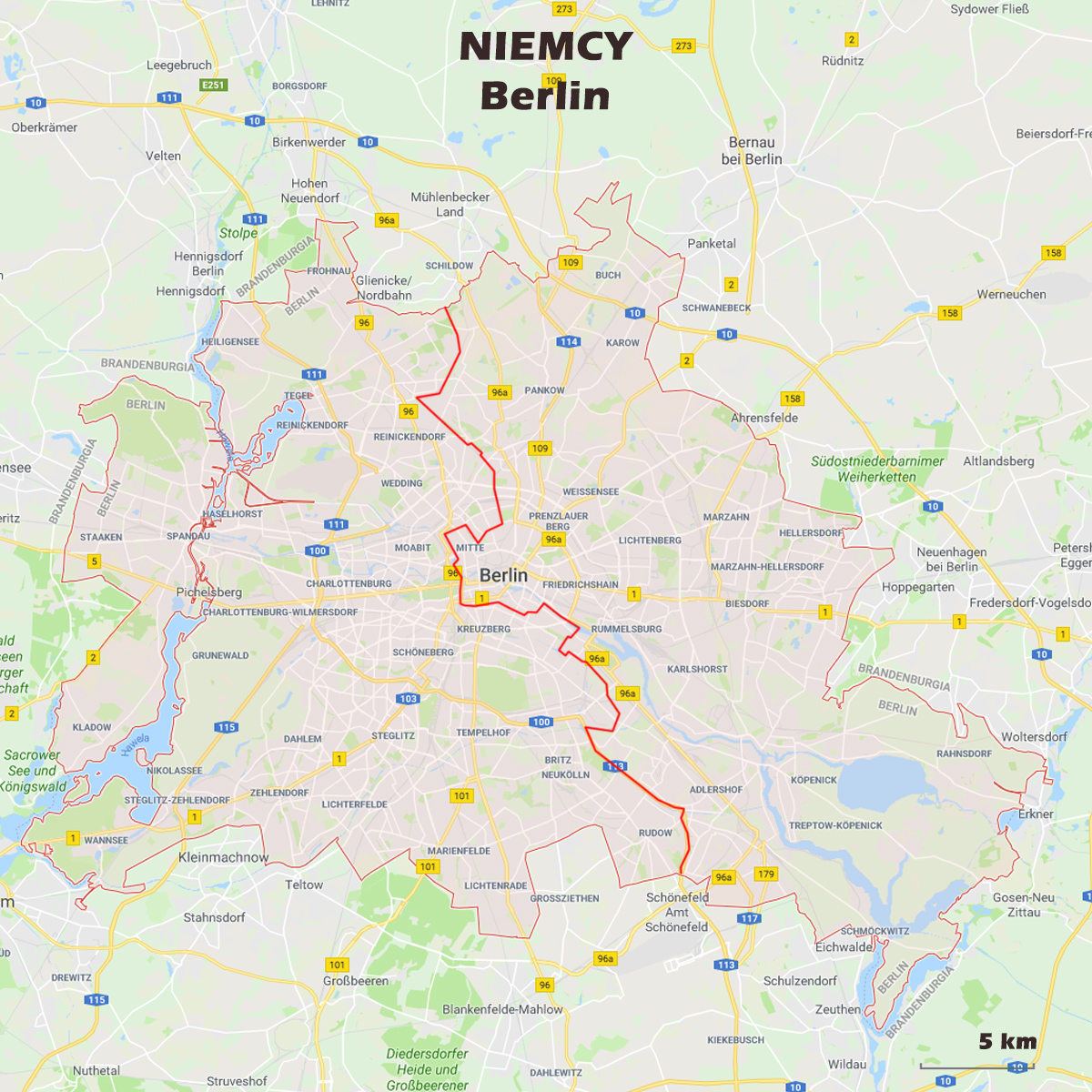 01 BERLIN mapa - Berlin - Architour