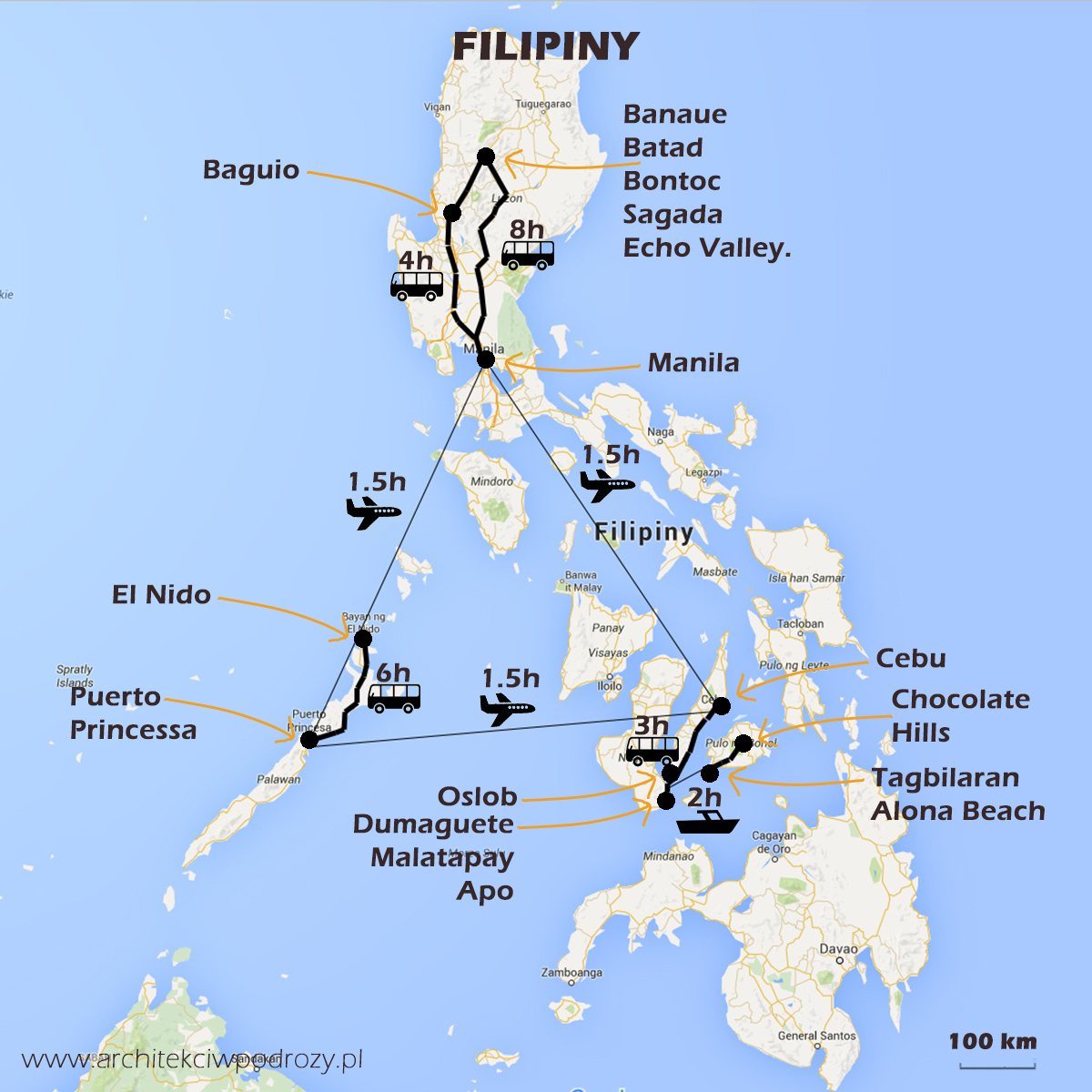 01 FILIPINY mapa - Filipiny - informacje ogólne