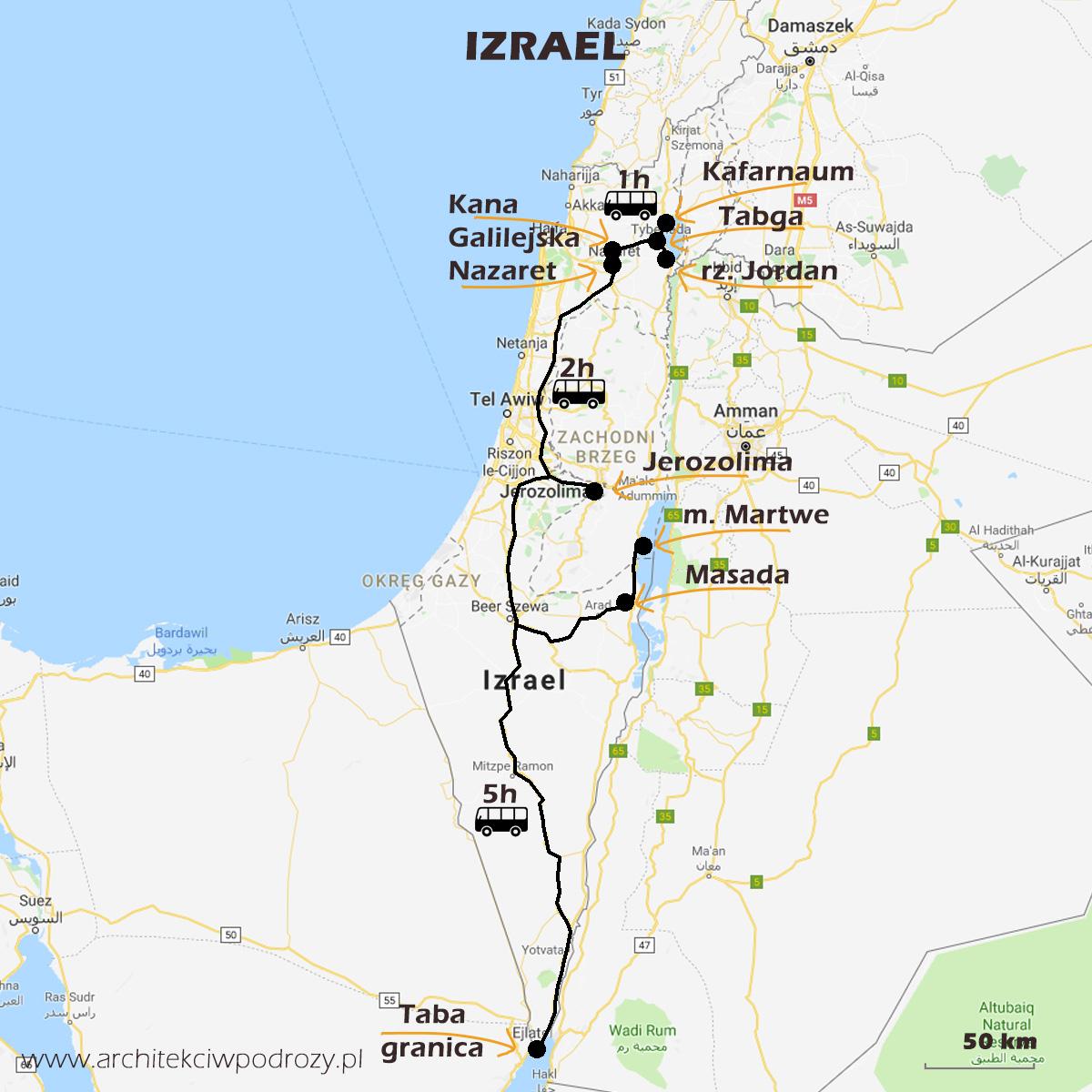 01 IZRAEL mapa - Izrael