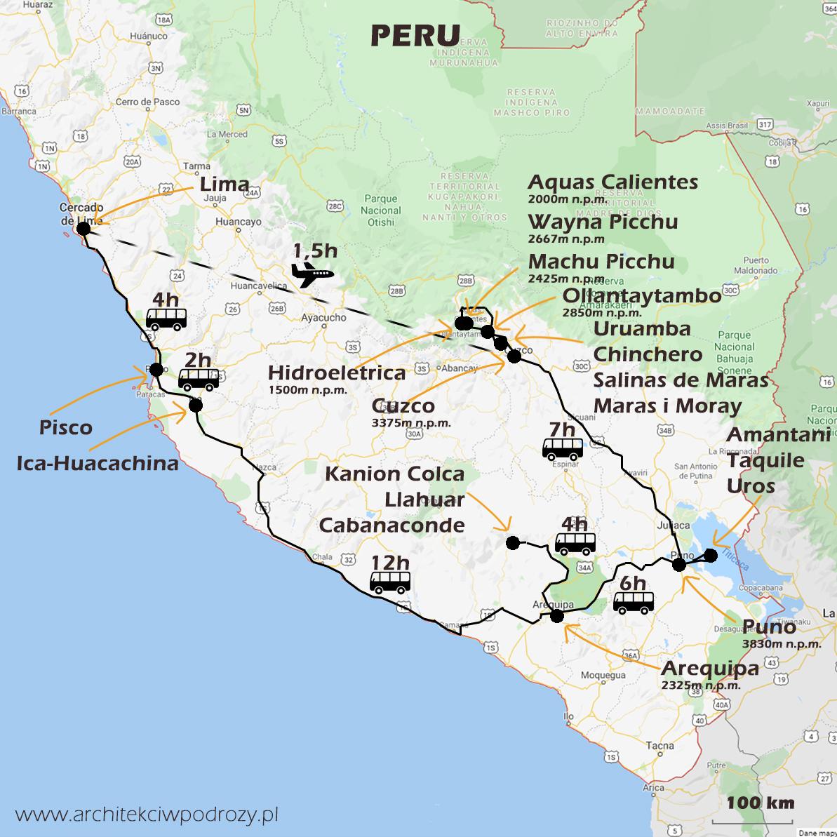 01 PERU mapa - Peru- kraj Inków- informacje ogólne