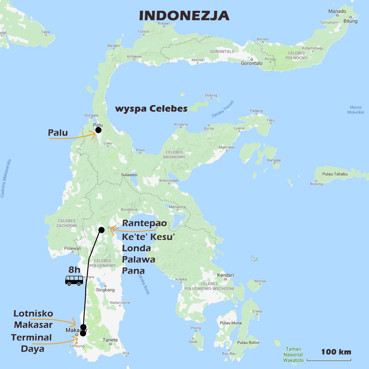 02 CELEBES mapa - Sulawesi ( Celebes)