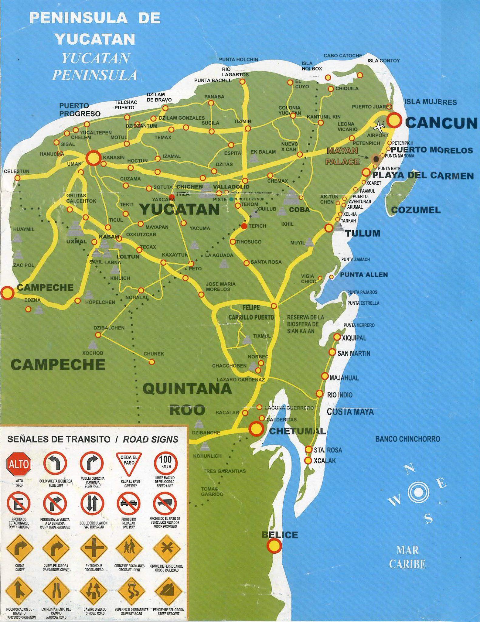 03 MAPA YUCATAN - Meksyk - Jukatan informacje ogólne