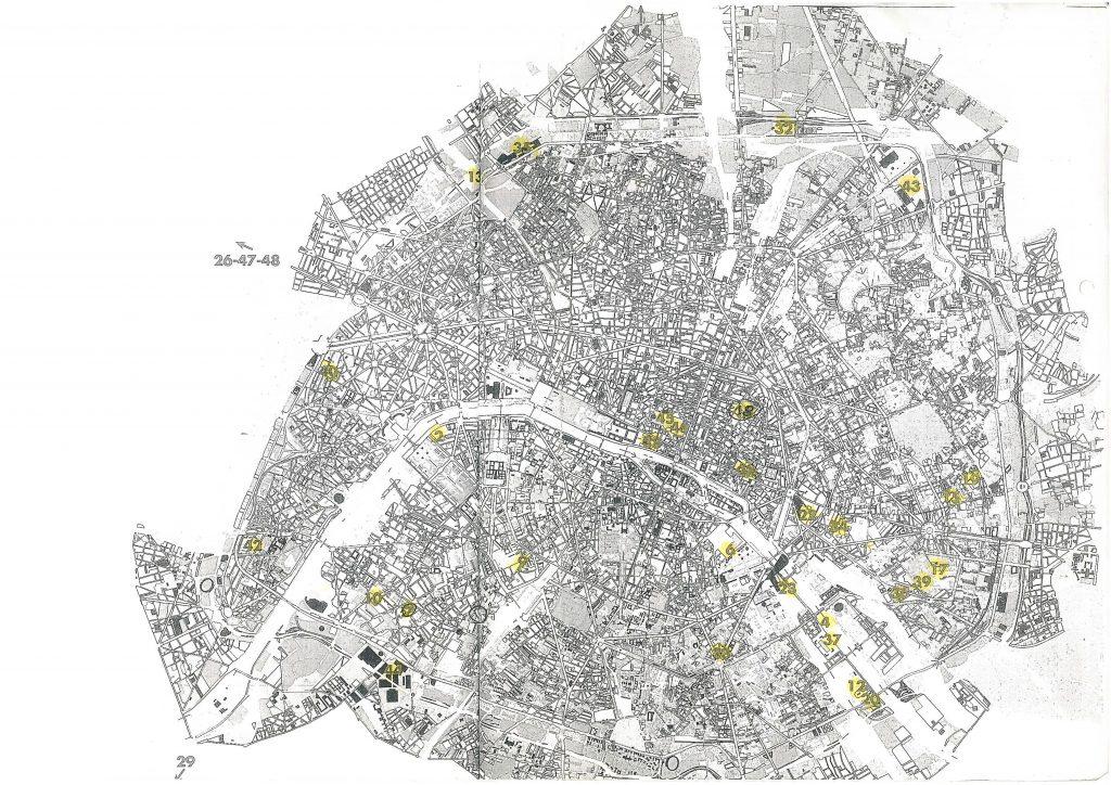 mapa ciekawych budynkow 1024x724 - Paryż