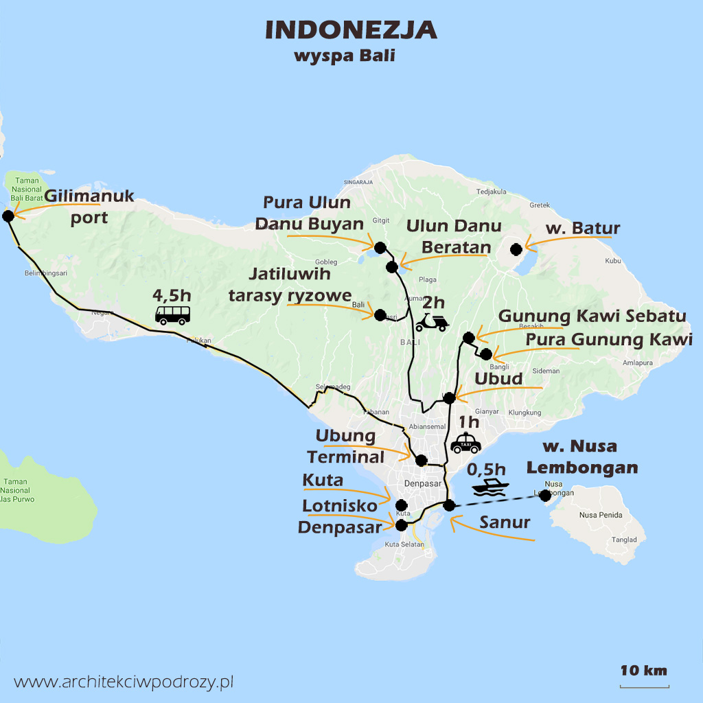 01 BALI mapa r3 - Bali i Nusa Lembongan