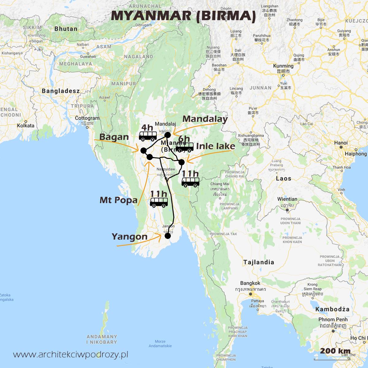 01 BIRMA mapa r1 - Myanmar informacje ogóle