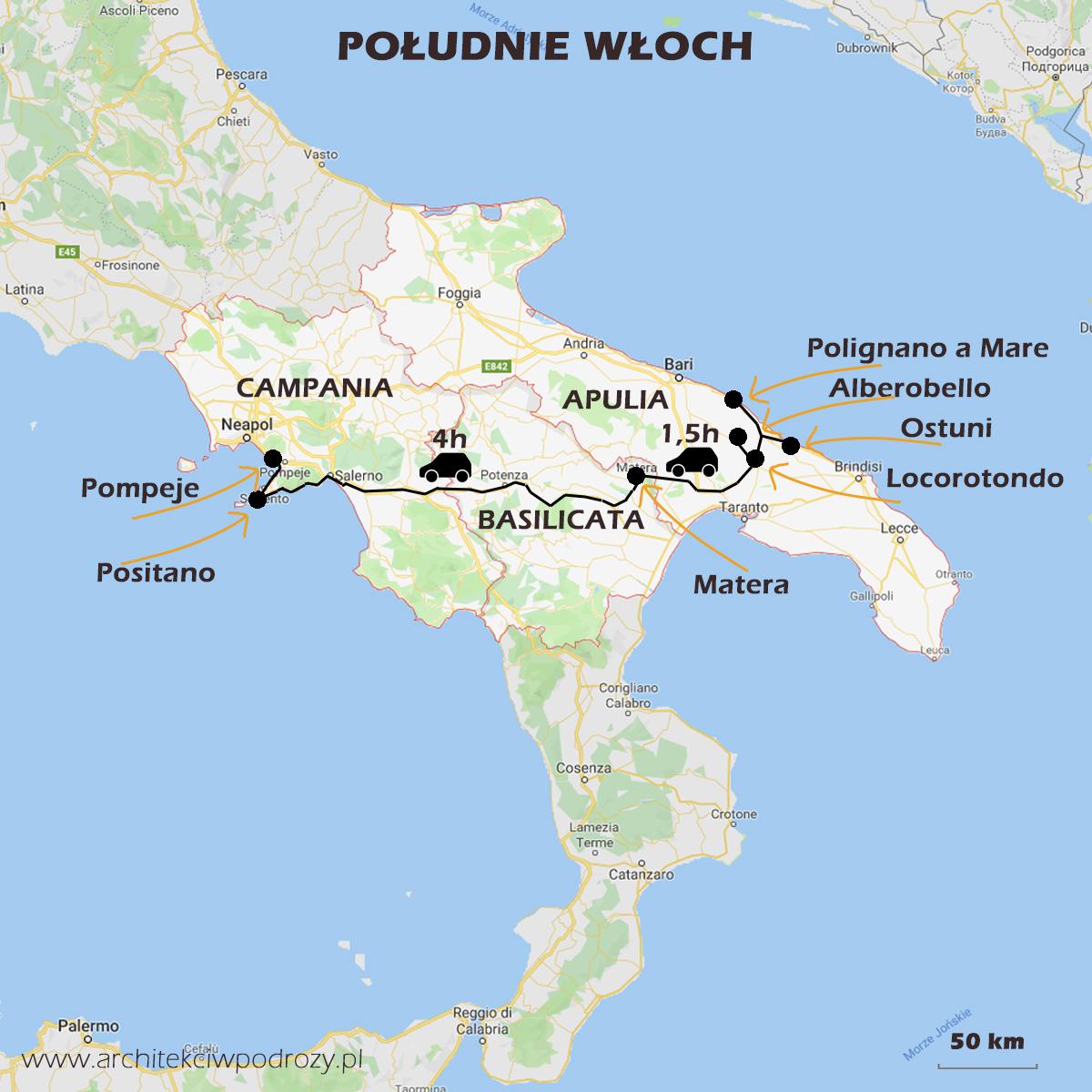 01 POLUDNIEWLOCH mapa r1 - Południe Włoch