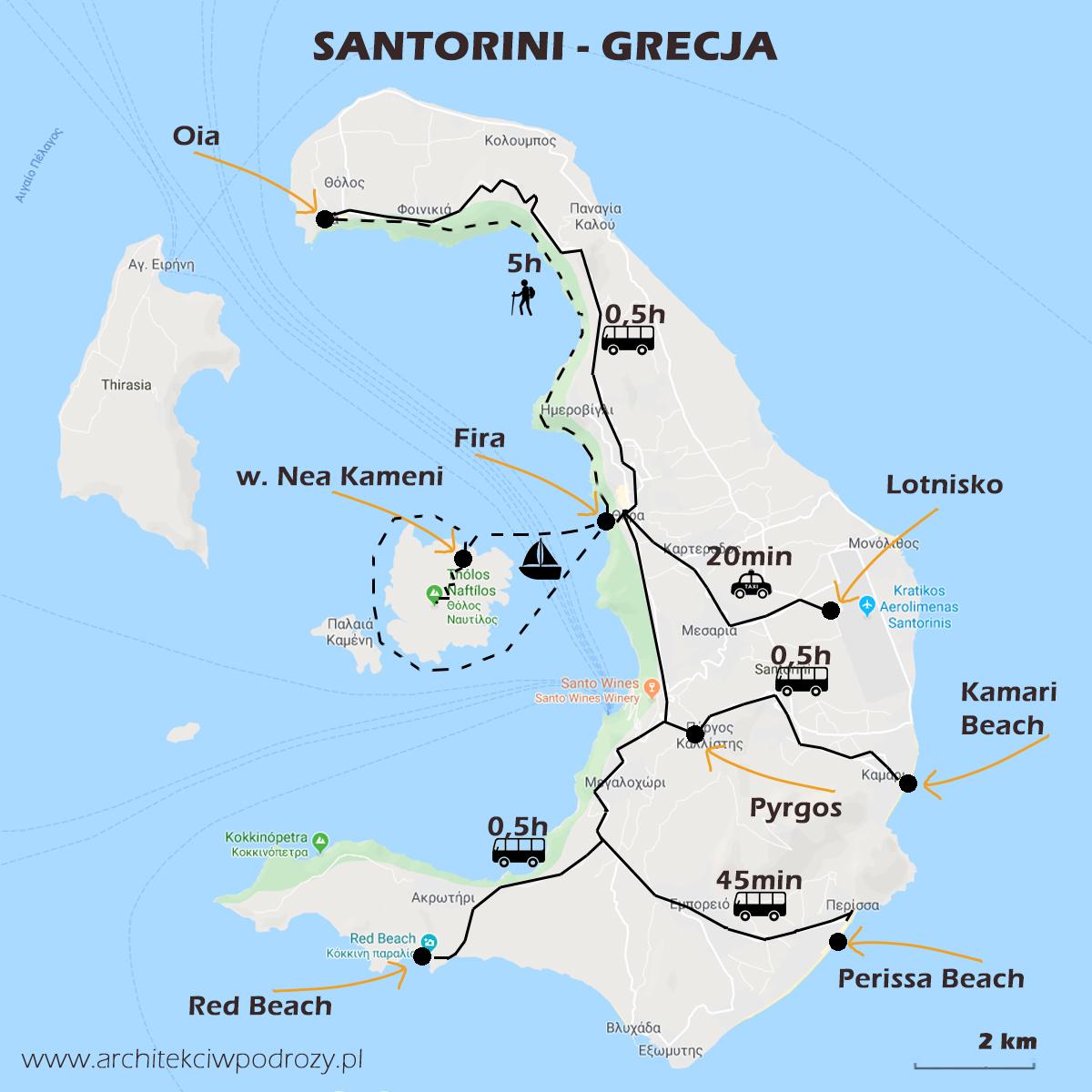 01 SANTORINI mapa - Greckie Santorini w listopadzie